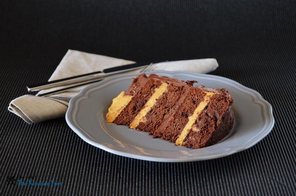 Fıstık Ezmeli Çikolatalı Pasta
