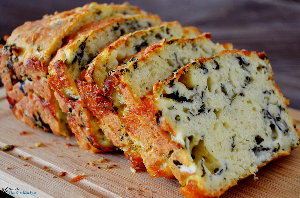 Savory Spinach And Cheese Loaf